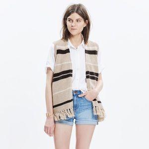 Madewell Coastward Fringe Sweater Vest (NWOT)